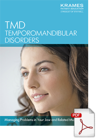 Download a brochure on managing TMD Temporomandibular Disorders