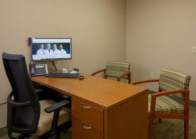 Private consultation space at Valley Oral Surgery's Allentown office.