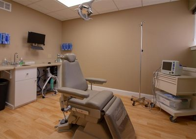 A procedure room at Valley Oral Surgery's Allentown office.