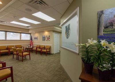 The patient reception area at Valley Oral Surgery's Allentown office.