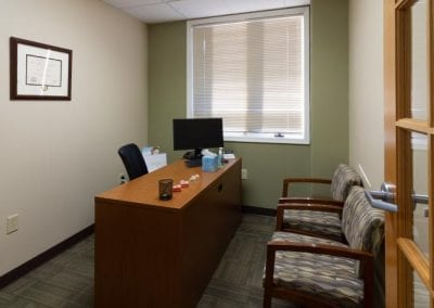 A patient consultation room at Valley Oral Surgery's Lehighton office.